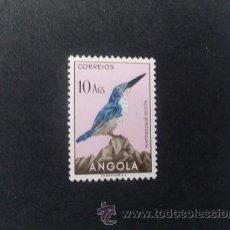 Sellos: ANGOLA,COLONIA PORTUGUESA,1951,AVES DE ANGOLA,AFINSA 342*,SCOTT 349*,NUEVO,GOMA,SEÑAL FIJASELLOS. Lote 54673402