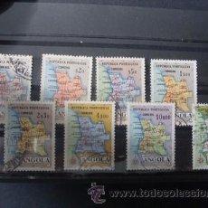 Sellos: ANGOLA,COLONIA PORTUGUESA,1955,MAPA DE ANGOLA,AFINSA 379-386,SCOTT 386,393,COMPLETA,USADOS. Lote 54692286