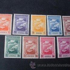 Sellos: ANGOLA PORTUGUESA,1938,IMPERIO COLONIAL,AEREO,AFINSA 1-9*,SCOTT C1-C9*,COMPLETA,NUEVO,POCO FIJASELLO. Lote 54767663