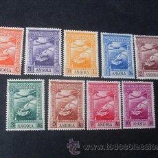 Sellos: ANGOLA PORTUGUESA,1938,IMPERIO COLONIAL,AEREO,AFINSA 1-9*,SCOTT C1-C9*,COMPLETA,CON Y SIN FIJASELLOS. Lote 54767833