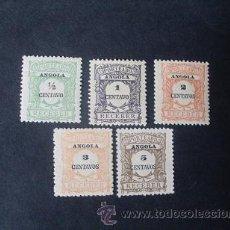 Sellos: ANGOLA PORTUGUESA,1911,PORTEADO,AFINSA 21-25*,SCOTT J21-25*,NUEVOS,SEÑAL FIJASELLO. Lote 54846552