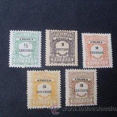 Sellos: ANGOLA PORTUGUESA,1911,PORTEADO,AFINSA 21-25*,SCOTT J21-25*,NUEVOS,SEÑAL FIJASELLO. Lote 54846608