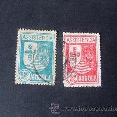 Sellos: ANGOLA PORTUGUESA,1939,IMPUESTO POSTAL,ASISTENCIA,ESCUDO ARMAS,AFINSA 5-6,SCOTT RA5-RA6,USADOS. Lote 266642113
