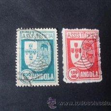 Sellos: ANGOLA PORTUGUESA,1939,IMPUESTO POSTAL,ASISTENCIA,ESCUDO ARMAS,AFINSA 5-6,SCOTT RA5-RA6,USADOS. Lote 54854114