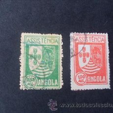 Sellos: ANGOLA PORTUGUESA,1939,IMPUESTO POSTAL,ASISTENCIA,ESCUDO ARMAS,AFINSA 5-6,SCOTT RA5-RA6,USADOS. Lote 266642118
