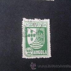 Sellos: ANGOLA PORTUGUESA,1939,ASISTENCIA,ESCUDO ARMAS,AFINSA 5,SCOTT RA5,MATASELLO PROVINCIA DE CABINDA. Lote 266642133