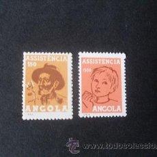 Sellos: ANGOLA PORTUGUESA,1965,ASISTENCIA,COLONO Y NIÑO,AFINSA 20-20A ,SCOTT RA19-RA20,COMPLETA,SIN GOMA. Lote 54855228
