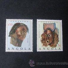 Sellos: ANGOLA,1976,MÁSCARAS,YVERT 604-605*,,SCOTT 595-596*,COMPLETA,NUEVOS,GOMA,SEÑAL FIJASELLOS. Lote 54855761