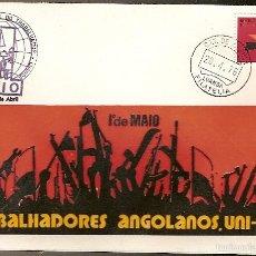 Sellos: ANGOLA & FDC, DÍA DEL TRABAJO, TRABAJADORES DE ANGOLA, LUANDA 1976 (603). Lote 56243077
