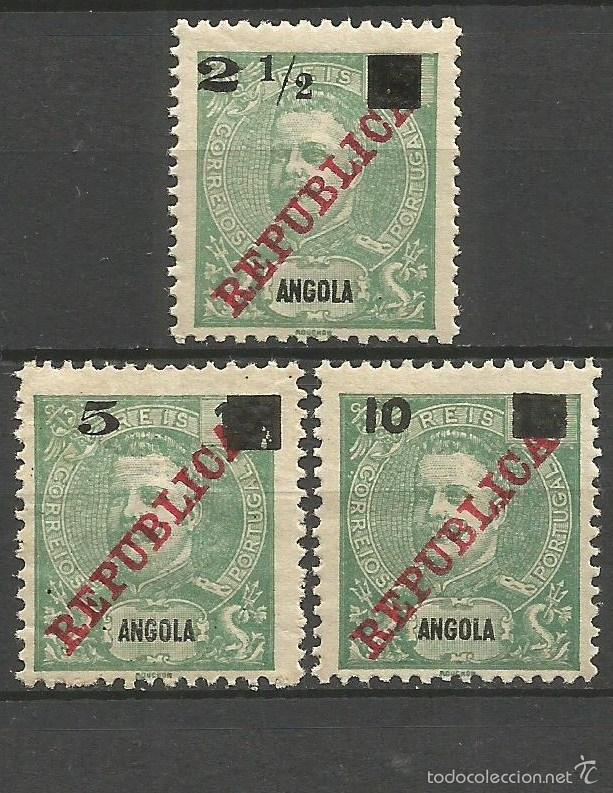 ANGOLA COLONIA PORTUGUESA YVERT NUM. 113/115 ** SERIE COMPLETA SIN FIJASELLOS (Sellos - Extranjero - África - Angola)