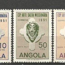 Sellos: ANGOLA COLONIA PORTUGUESA YVERT NUM. 354/356 SERIE COMPLETA NUEVA SIN GOMA. Lote 66829406