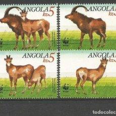 Sellos: ANGOLA YVERT NUM. 774/777 ** SERIE COMPLETA SIN FIJASELLOS . Lote 68156065