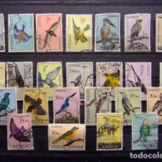 Sellos: ANGOLA 1951 PÁJAROS YVERT 328 / 351 FU SERIE RARA. Lote 71517995