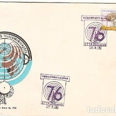Sellos: ANGOLA & FDC VIA SATELITE, INAUGURAÇÃO DAS ESTAÇÕES TERRENAS, LUANDA 1976 (581). Lote 88322604