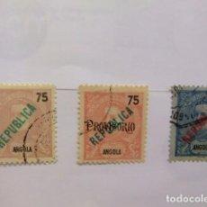 Sellos: ANGOLA 1914 CARLOS 1 º AVEC REPUBLICA YVERT N 163 / 165 FU INCOMPLET . Lote 98146411