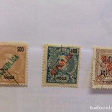 Sellos: ANGOLA 1914 CARLOS 1 AVEC REPUBLICA YVERT N 175 / 76 FU. Lote 98148459