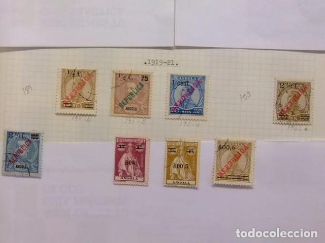 ANGOLA 1919 - 21 CARLOS 1 MANUEL II CÈRÉS AVEC REPUBLICA YVERT 189 / 99 º FU INCOMPLET (Sellos - Extranjero - África - Angola)