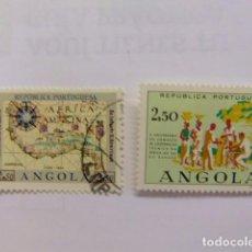 Sellos: ANGOLA 1960 HENRIQUE AVIZ - COOPERATION TECHNIQUE EN AFRIQUE YVERT N 417 - 418 FU. Lote 98660179