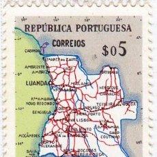 Sellos: 1955 - ANGOLA - MAPA DE ANGOLA - YVERT 381. Lote 105892247