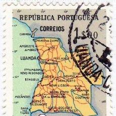 Sellos: 1955 - ANGOLA - MAPA DE ANGOLA - YVERT 384 . Lote 105892351