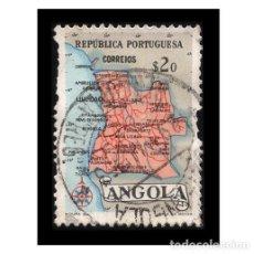 Sellos: ANGOLA 1955. MICHEL AO 393, YVERT AO 382. MAPA DE ANGOLA. USADO. Lote 112458779