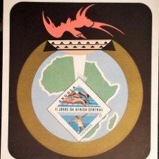Sellos: ANGOLA. HB 5 II JUEGOS DE AFRICA CENTRAL: NATACIÓN, JABALINA. 1981. SELLOS NUEVOS Y NUMERACIÓN YVERT. Lote 119441608