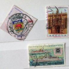 Sellos: ANGOLA 2 SELLOS DE ANGOLA PORTUGUESA . Lote 126756019