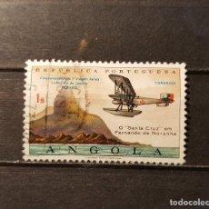 Sellos: SELLO USADO ANGOLA. L ANIVº PRIMER VUELO ENTRE LISBOA Y RIO DE JANEIRO.20 SEPTIEMBRE 1972. YT:AO 579. Lote 128471335