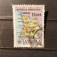 Sellos: SELLO USADO ANGOLA. MAPA DE ANGOLA. 1958. YT:AO 383. Lote 128472599