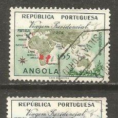 Sellos: ANGOLA COLONIA PORTUGUESA YVERT NUM. 378/379 SERIE COMPLETA USADA. Lote 139232106