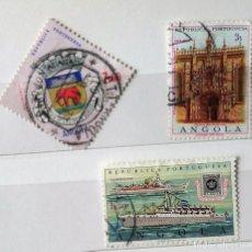 Sellos: ANGOLA 2 SELLOS DE ANGOLA PORTUGUESA . Lote 141185510