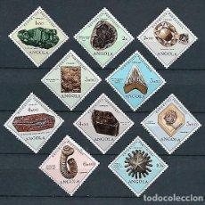 Sellos: ANGOLA,1970,MINERALES Y FÓSILES,NUEVOS,MNH**,YVERT 562-571. Lote 142729466