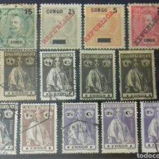 Sellos: SELLOS DE CONGO PORTUGUÉS DE ENTRE 1898 Y 1914. Lote 145666041