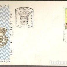 Sellos: ANGOLA & FDC DÍA DE LA CIUDAD DEL LOBITO, LOBITO 1963 (3347). Lote 146216714