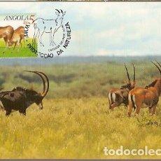 Sellos: ANGOLA & MAXIMO, WWF ANTELOPE, HIPPOTRAGUS NIGER VARIANI, SABLE GIGANTE, MALANGE 1990 (6866). Lote 147646330