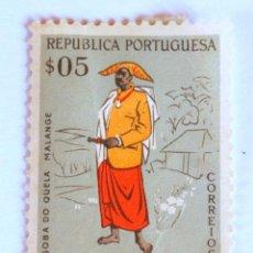 Sellos: SELLO POSTAL ANGOLA, 1957 , 5 CENTAVOS, SOBA DO QUELA MALANGE , SIN USAR. Lote 149877490