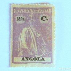 Sellos: SELLO POSTAL ANGOLA, 1914, 2 1/2 CENTAVOS, CERES , SIN USAR. Lote 149882822