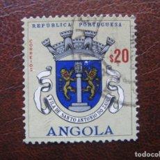 Sellos: ANGOLA,1963 BLASONES, YVERT 469. Lote 163354286