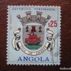 Sellos: ANGOLA, 1963 BLASONES, YVERT 470. Lote 163354450