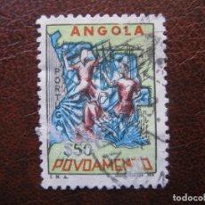 Sellos: ANGOLA, 1965 SOBRETASA A FAVOR DE LOS POBRES, YVERT 515. Lote 163354666