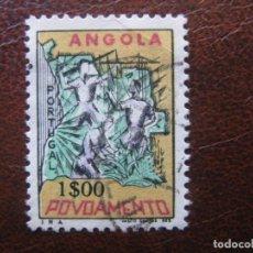 Sellos: ANGOLA, 1965 SOBRETASA A FAVOR DE LOS POBRES, YVERT 516. Lote 163355054