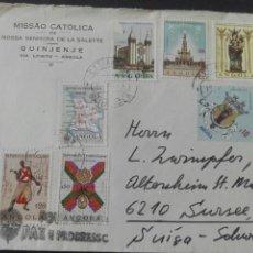 Sellos: CARTA CIRCULADA DE ANGOLA A SUIZA. Lote 164163321