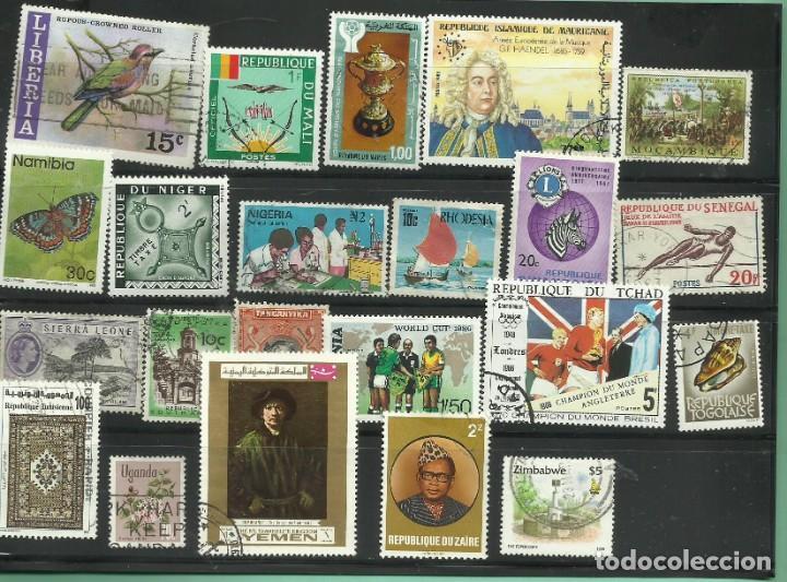 Sellos: lote de 43 sellos de Africa de 43 paises diferentes - Foto 2 - 168234916