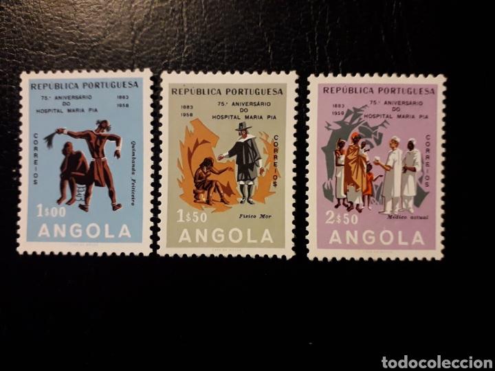 ANGOLA. YVERT 408/10 SERIE COMPLETA NUEVA CON CHARNELA. HOSPITAL MARÍA PÍA. (Sellos - Extranjero - África - Angola)