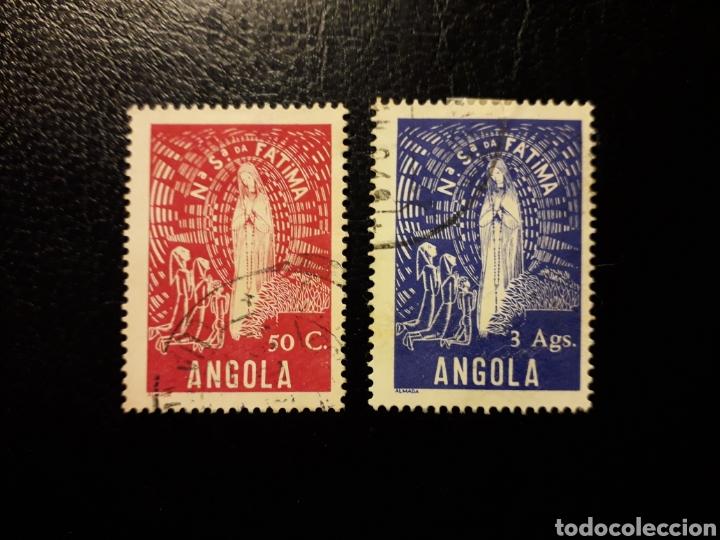 ANGOLA. YVERT 309 Y 310. SELLOS SUELTOS USADOS. VIRGEN DE FÁTIMA. (Sellos - Extranjero - África - Angola)