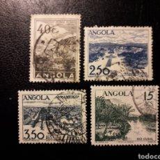 Sellos: ANGOLA. YVERT 314, 316, 317 Y 318. SELLOS SUELTOS USADOS. TURISMO.. Lote 176940459