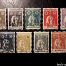 Sellos: ANGOLA. YVERT 142/4, 146/51 (TIPO A). DENTADO 12 X 11 1/2. SELLOS SUELTOS * Y USADOS. CERES.. Lote 177215335