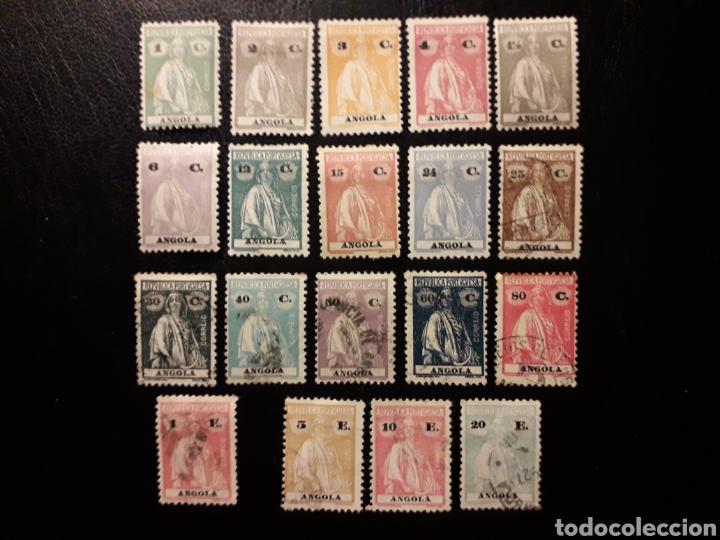 ANGOLA. YVERT 202/6, 208, 211/8, 219/20, 223/5 (TIPO A). DENT 12 X 11 1/2. SUELTOS * Y USADO. LEER (Sellos - Extranjero - África - Angola)