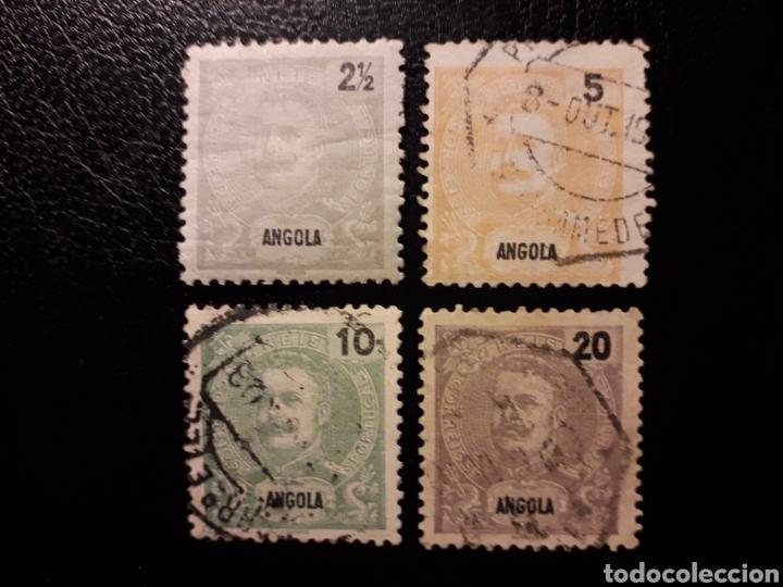 ANGOLA. YVERT 38/40 SELLOS SUELTOS MAYORÍA USADOS. CARLOS I. (Sellos - Extranjero - África - Angola)