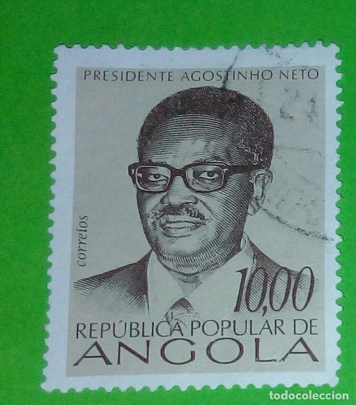 ANGOLA 1976, PRESIDENTE AGOSTINHO NETO. USADO (Sellos - Extranjero - África - Angola)